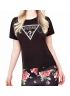 Guess T-shirt basic donna logo triangolo W81I50JA900