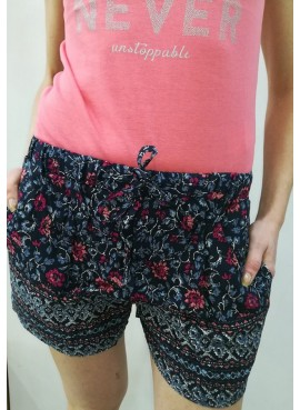 Short donna in viscosa 812-9013ab