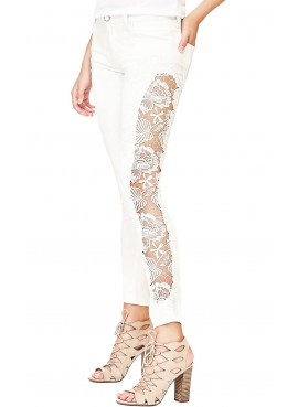 Jeans donna bianco Guess Sexy Curve W82A12D2G65
