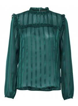 B.Young Blousa donna verde petrolio a righe 20802917 IVERY