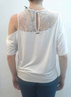 T-Shirt Donna in pizzo Guess art. W93I73K68D0