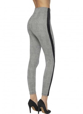 Leggings Donna quadretti effetto push-up Ysabel Mora art.70241