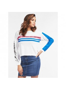 GUESS PAOLA RN LS SWEATER TRUE WHITE A000