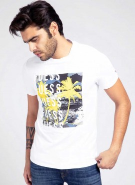 T-shirt Guess Uomo stampa frontale M1GI58J1311-TLRD
