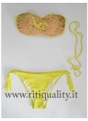 TWIN-SET BIKINI FASCIA VERDE ACIDO MS4111