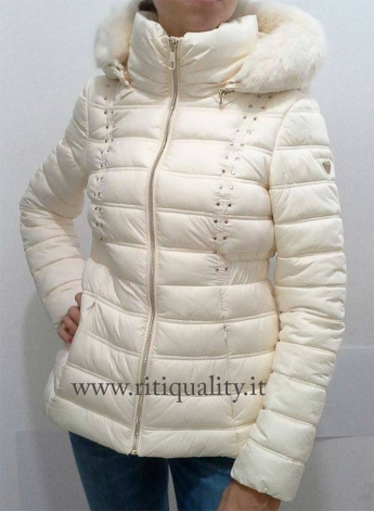 wholesale dealer f332a ac5d5 Guess donna Giubbotto avorio con borchie W63L42W7IV0 - Riti Quality