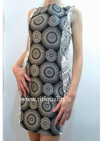 Smash Abito donna Osismi dress nero bianco